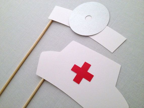 Doctor and Nurse Photo Booth Prop Set  Nursing by CleverMarten, $6.00