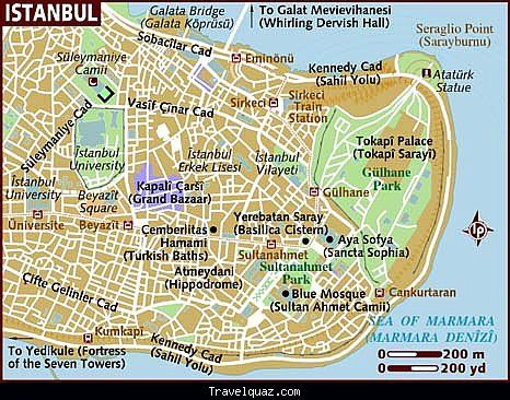 awesome Map of istanbul city