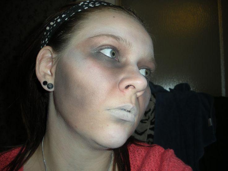 simple zombie makeup   JESSICA MAKEUP: Basic Zombie Makeup