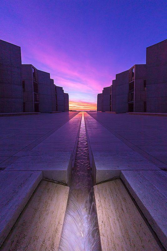 Sunset in Salk Institute, San Diego, California