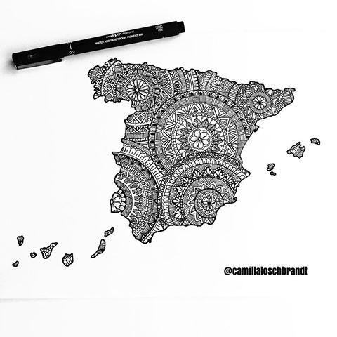 #Spain mandala map