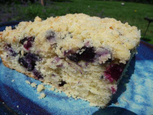 Blueberry Lemon Buckle Cake