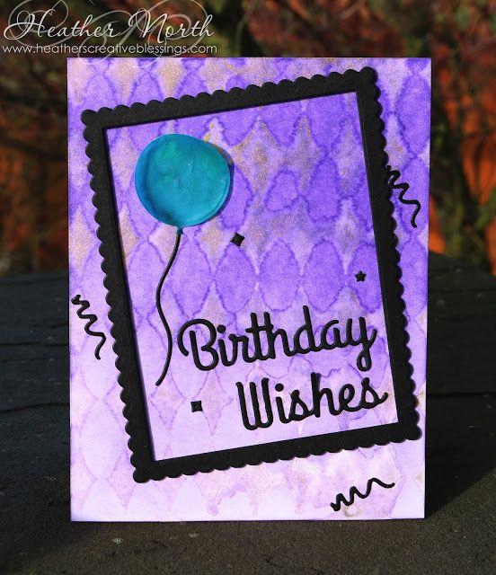Creative Blessings: Stenciled Birthday Wishes