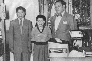 Guess relationship between lady and the left guy? ?  ?  ?  ?  Mother and son.  LINA MEDINA --youngest mother in medical history (only at 5yrs).