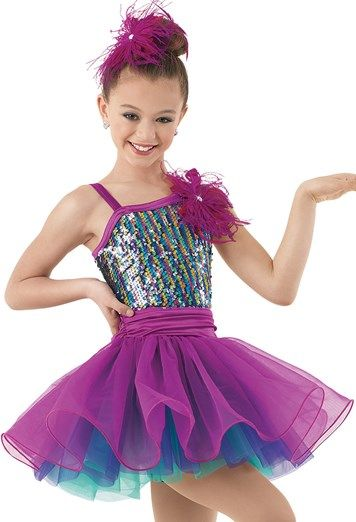 Weissman™ | Rainbow Sequin Curly Hem Dress