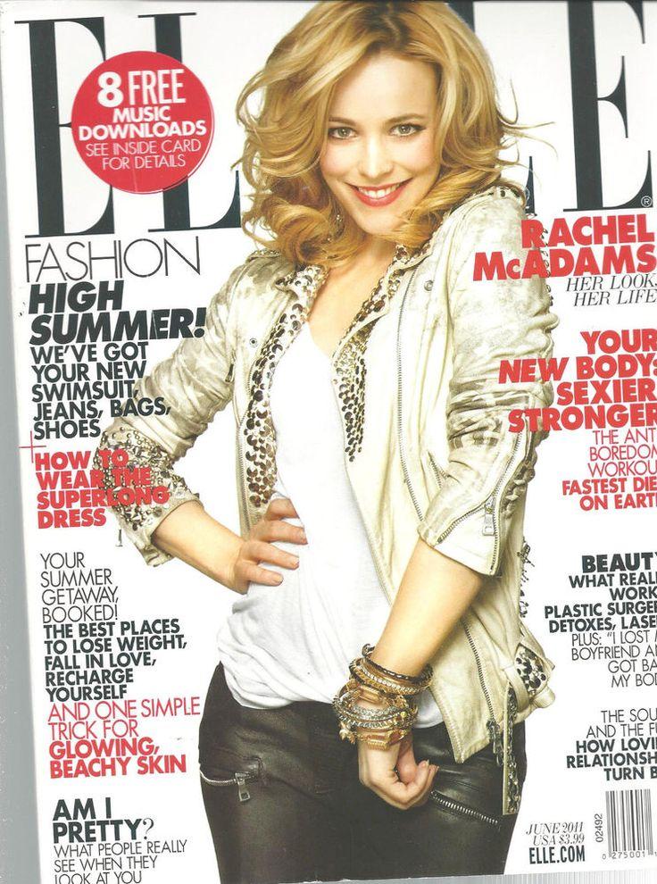 Rachel McAdams Elle Fashion Magazine, June 2011