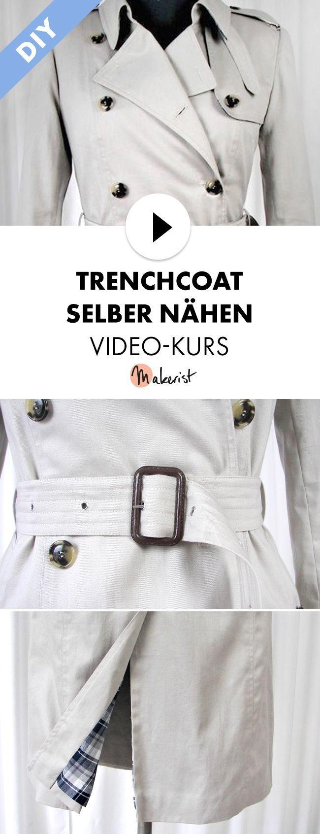 Klassischen Trenchcoat selber nähen lernen im Video-Kurs mit Schritt-für-S… – Miss Rosi – Nähen, DIY, Illustrationen & Design