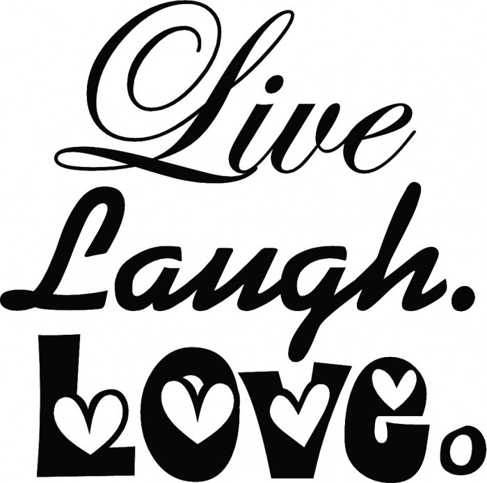 Live Laugh Love II Wall Quotes | Happy Wall Decals