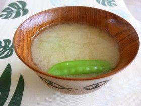絹さや&玉ねぎシンプル✽味噌汁