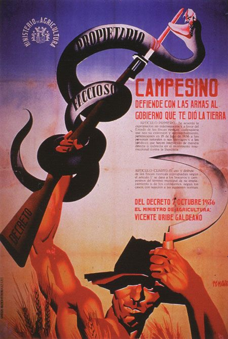 Spanish Civil War Poster, 1936