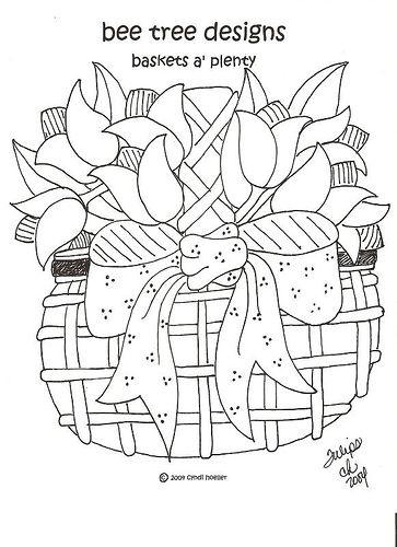 Redwork Basket March By Bee Tree Designs Via Flickr