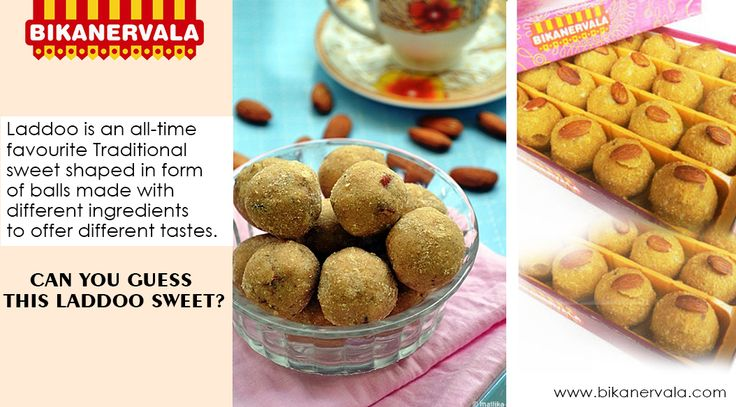 Ladoo is all time favourite traditional sweet... Can you guess this ladoo?? ‪#‎Bikanervala‬