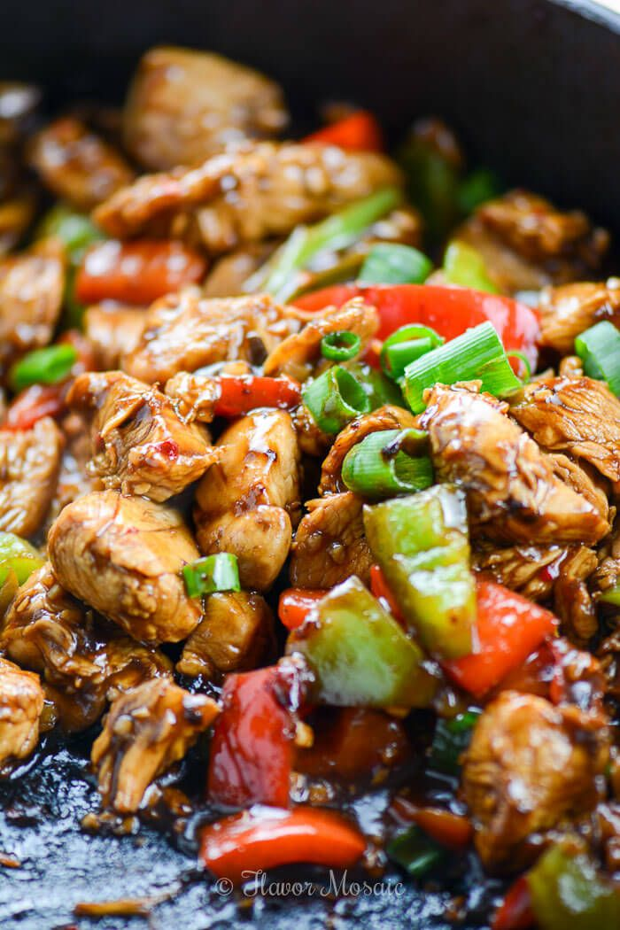 Easy Kung Pao Chicken Recipe ~ http://FlavorMosaic.com