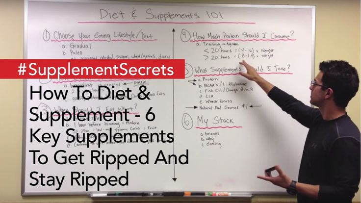 How To Diet & Supplement - 6 Key Supplements To Get Ripped And Stay Ripped