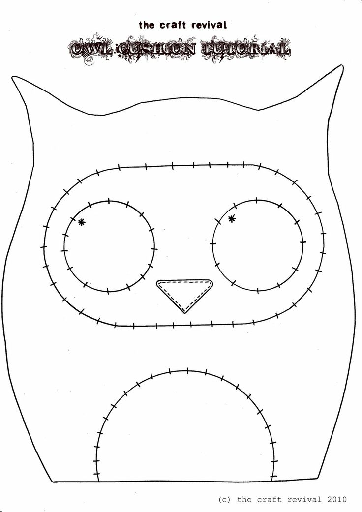 Useful Owl Pincushion Template