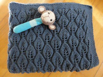 Den lilla elefant: Strikket baby tæppe = færdigt