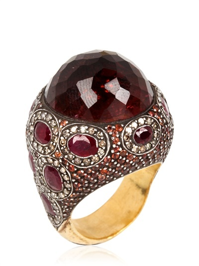 SEVAN BIÇAKCI - RUBIES, POPPY SAPPHIRES & RUBELITE RING - LUISAVIAROMA - LUXURY SHOPPING WORLDWIDE SHIPPING - FLORENCE