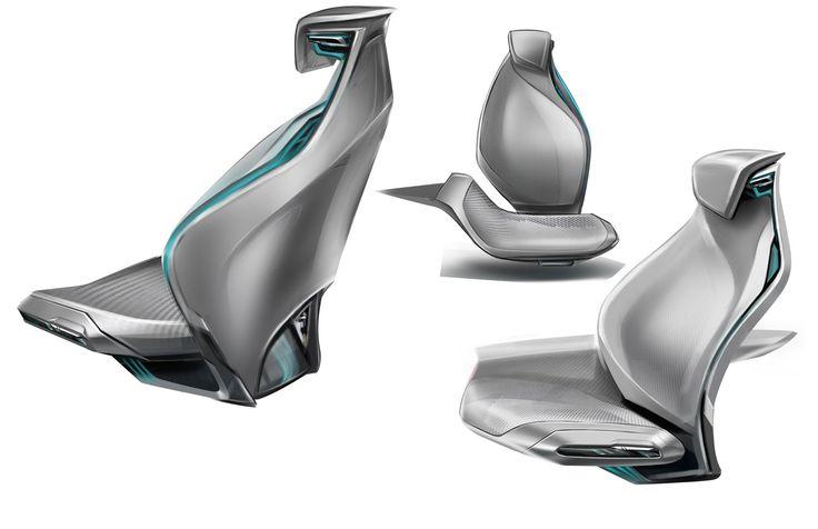 Buick Riviera Concept - Interior Design Sketch - Seat