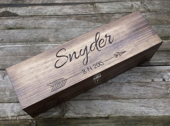 Wedding Wine Box Wine box ceremony first fight box by arrowsarah $65