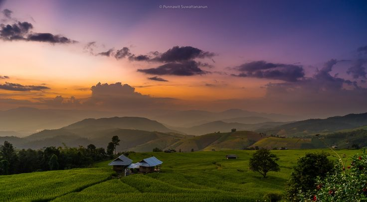 Twilight at rice terrace by Punnawit Suwattananun on 500px