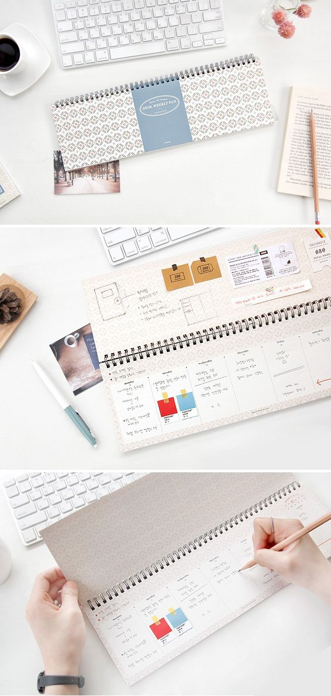 A unique and adorable desk planner to keep track of your school week. More unique planners for school at http://www.mochithings.com/schedulers-and-planners