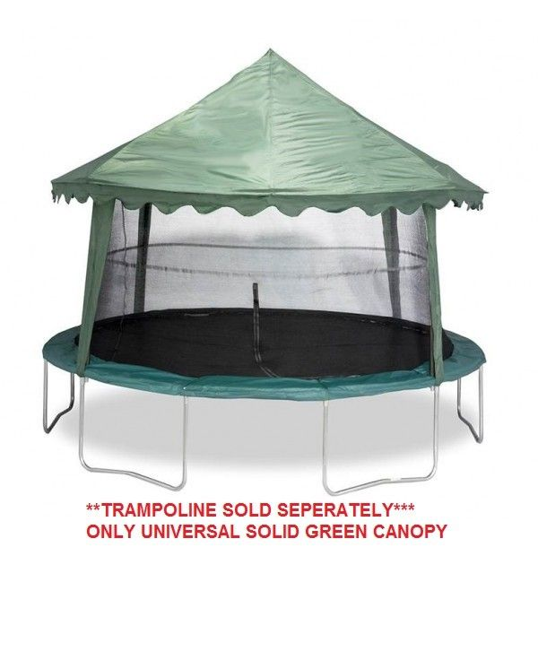Buy Universal 14 Trampoline Cover Solid Green Model Acc Usgc14 Jumpking Trampolines In 2020 Trampoline Tent Cover Trampoline Tent Backyard Trampoline