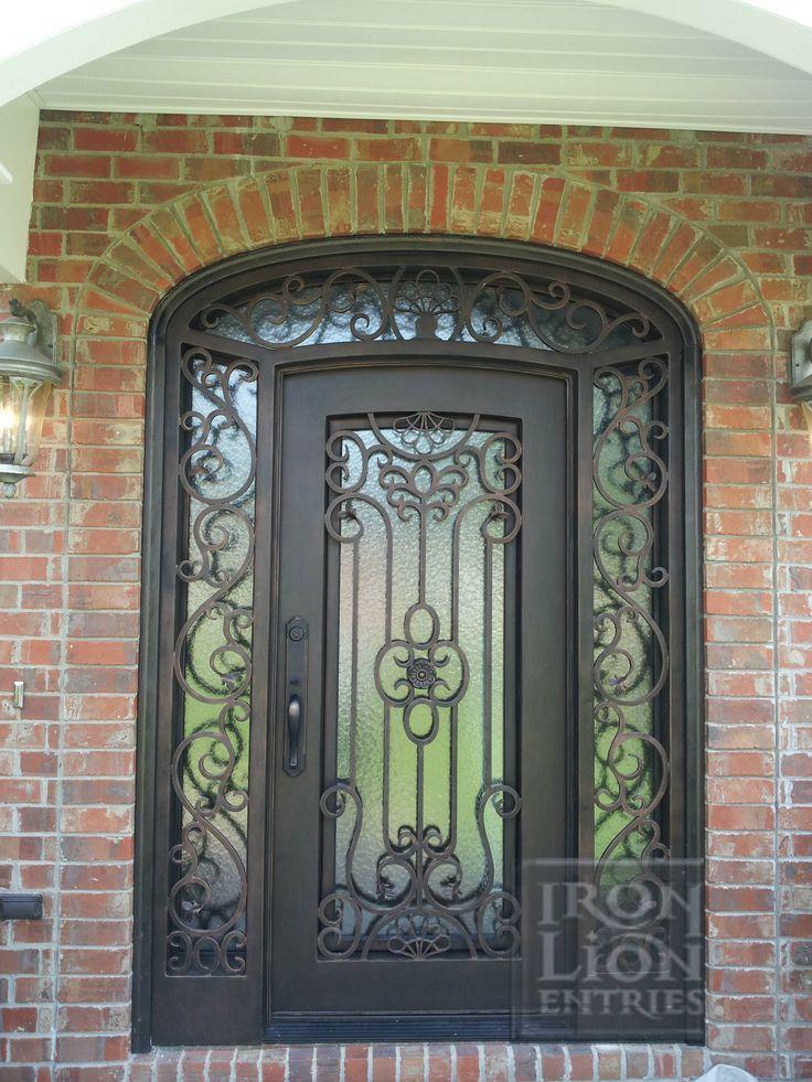 76 Best Iron Front Door Installations Images On Pinterest