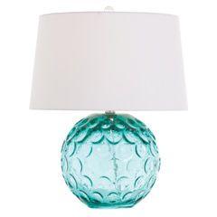 Arteriors Caprice Aqua Glass Lamp AR17044901
