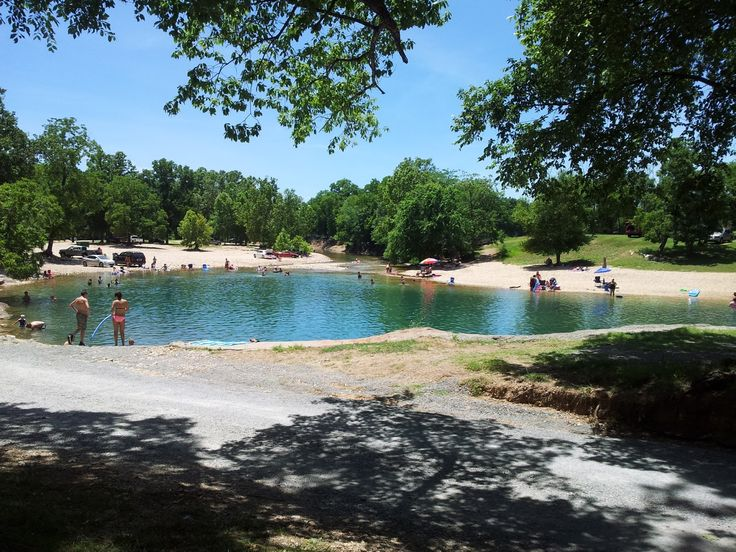 Been here a few times. Swimming at Blue Hole - NE Oklahoma swimming hole, ICE cold even its 100° outside.