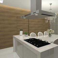 Cocinas de estilo moderno por LARISSA REIS ARQUITETURA