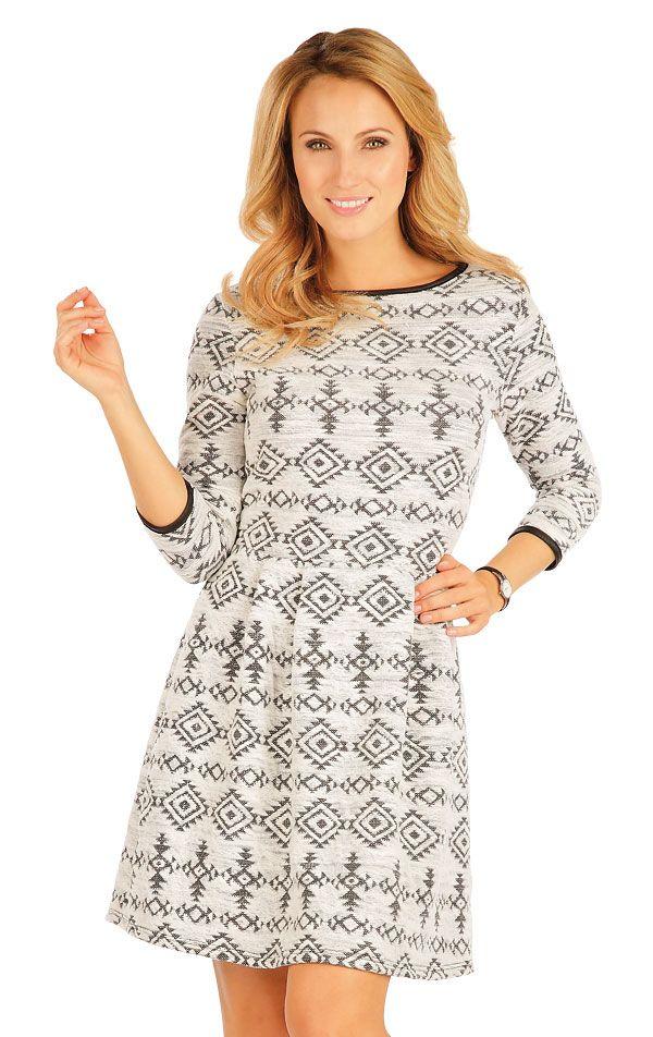 Šaty dámské s 3/4 rukávem. 90296 | LITEX
