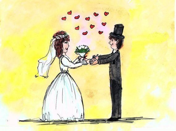 Check out this item in my Etsy shop https://www.etsy.com/listing/265809820/colorful-art-print-bride-and-groom