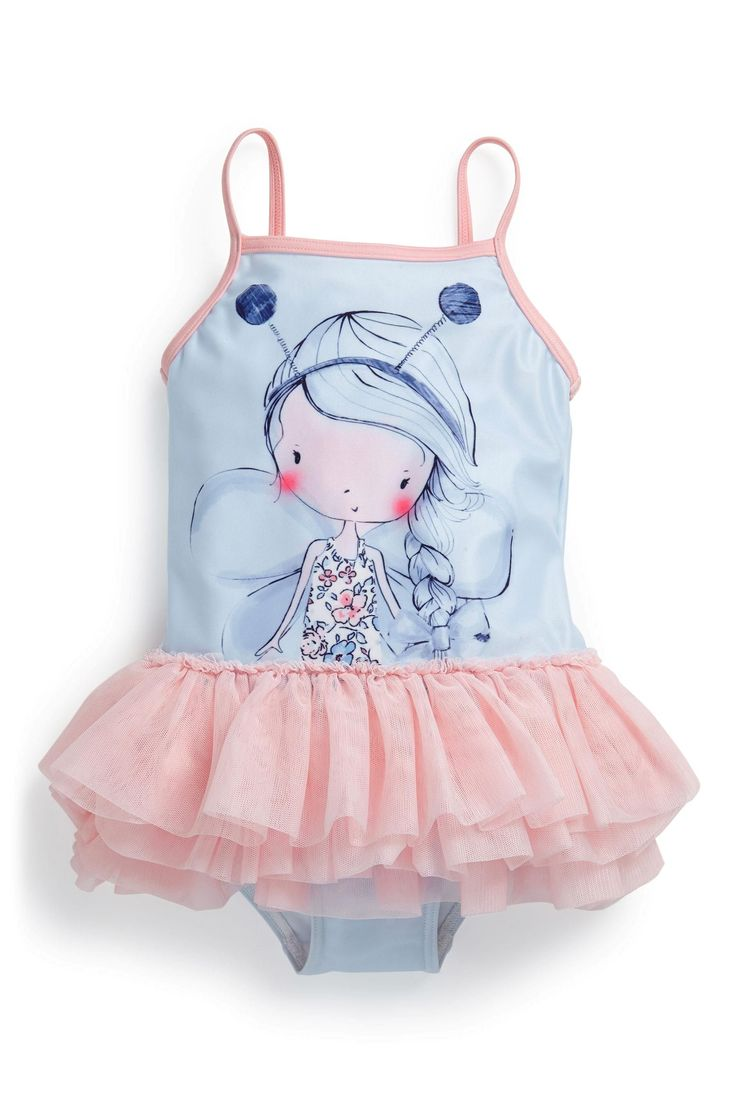 Baby girl swimsuit with tutu-7268