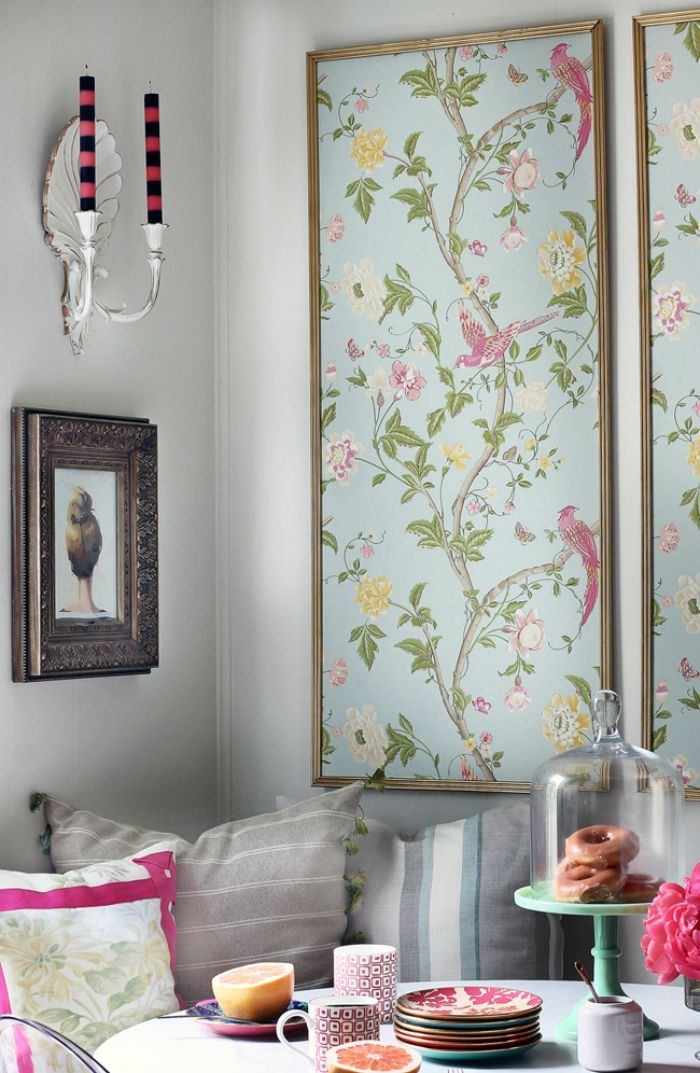 Wallpaper For Small Spaces Part - 41: Love The Candles And I Could Use Some Fabric To Personalize The Space Too