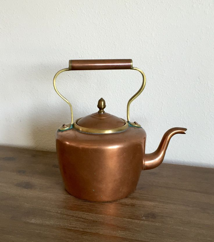 A personal favorite from my Etsy shop https://www.etsy.com/listing/510041829/vintage-copper-and-brass-tea-kettle