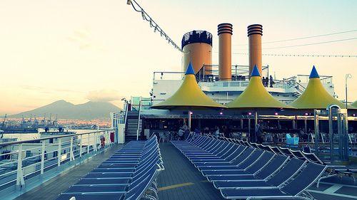 Cruise with Costa Deliziosa; Port of Naples; Lido a poppa