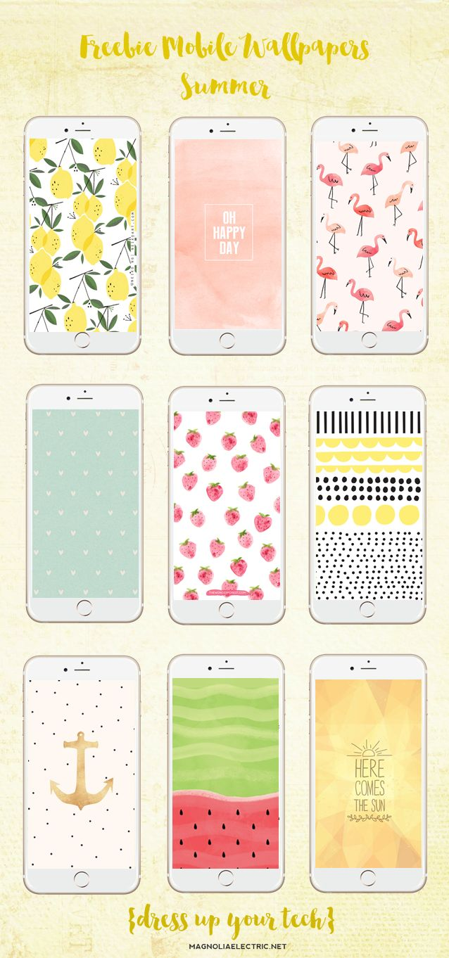 * magnoliaelectric: Freebie Mobile Wallpapers Collection {Summer}