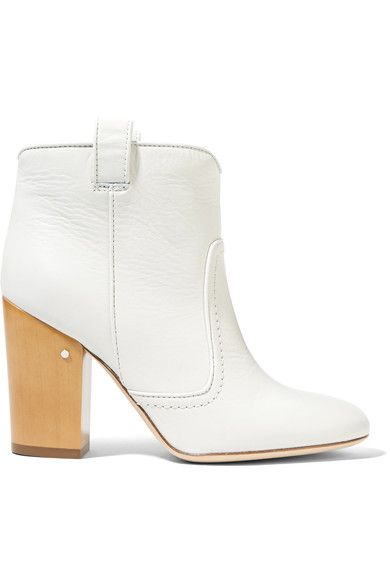 Laurence Dacade - Pete Leather Ankle Boots - White - IT40.5