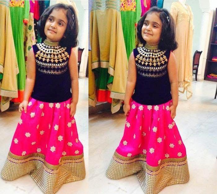 Pretty Kid in Designer Skirt
