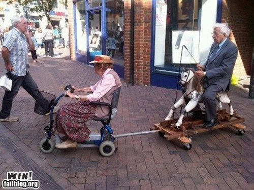 Too cute, laughed: Old Age, Rocks Hors, Young At Heart, Funny Pictures, True Love, Scooters, Future Husband, Funny Stuff, Old People