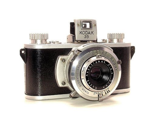 Kodak 35, 1938, first 35mm still camera of Kodak.