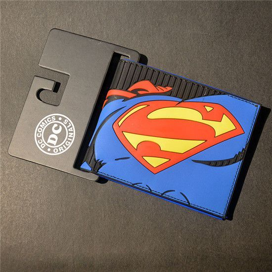 Comics DC Marvel the Avengers Iron Man, Thor, Captain America, Superman 3D Purse Logo Credit Card Holder Cartoon Wallet