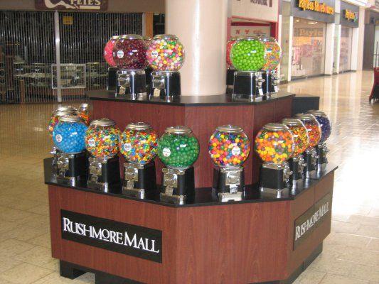 BT Vending pillar candy kiosk for Rushmore Mall, Rapid City, SD.
