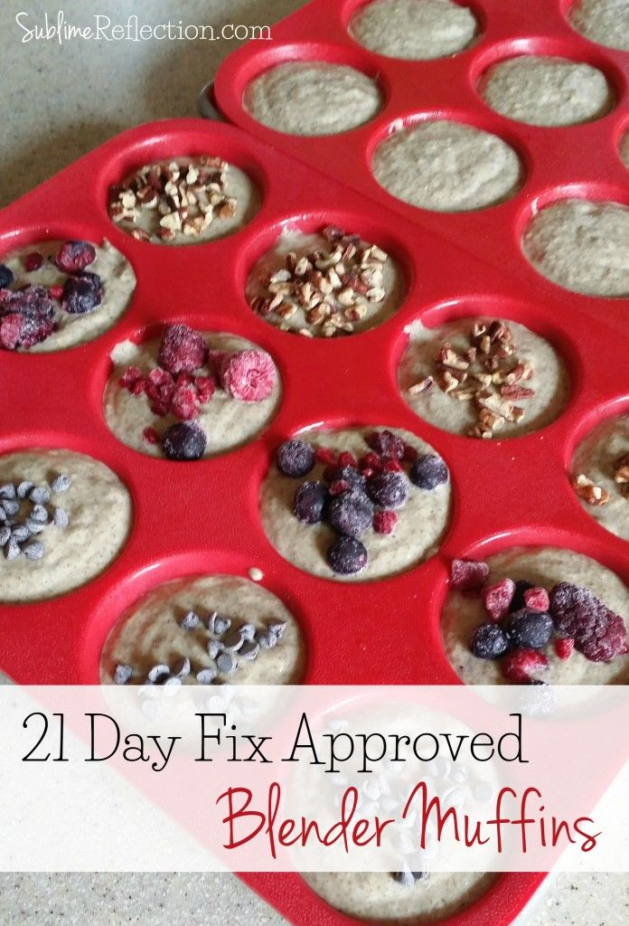 21 Day Fix Approved Blender Muffins
