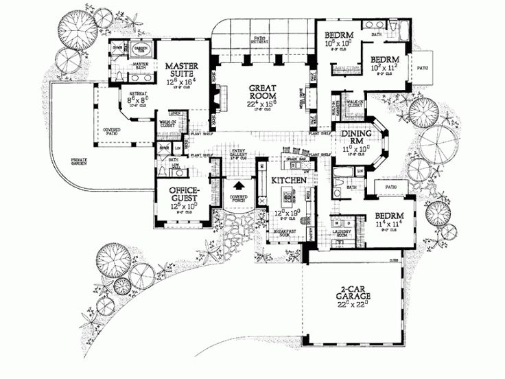 14 best images about adobe style homes on pinterest for Adobe home floor plans