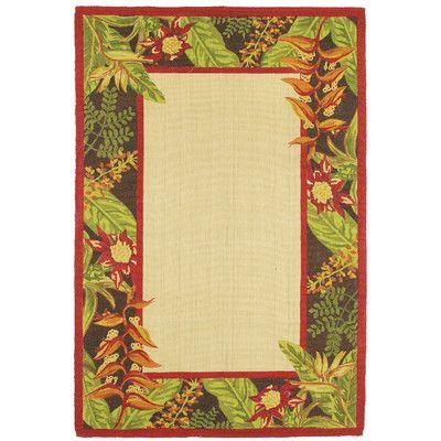 Kosas Home Printed Jute Tropical Tahitian Garden Novelty Rug Rug Size: 6' x 9'