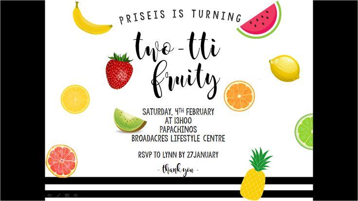 Priseis 2nd birthday invitation