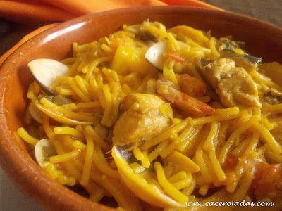 Caceroladas: Cazuela de fideos con pescado y marisco