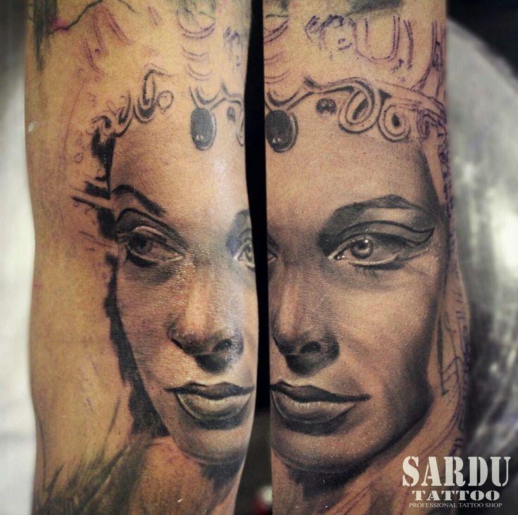 Cleopatra tattoo.