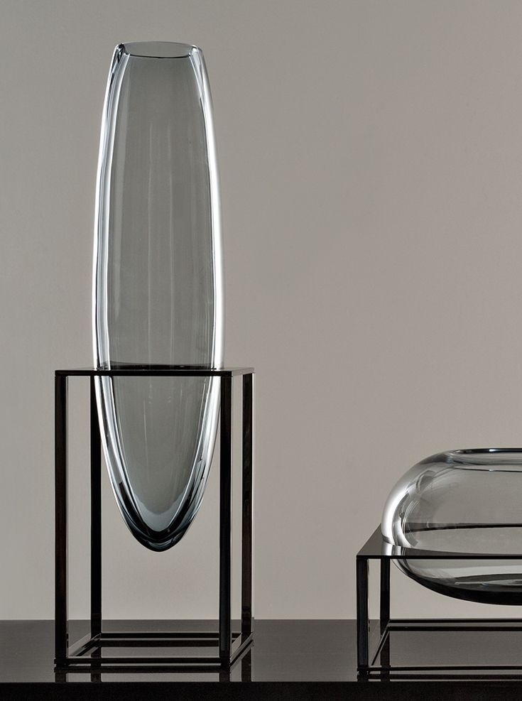 Fendi Design Vase. Cube Vase designed by Gabriella Asztalos & made of Murano Glass. #LuxuryLiving #Saloni2015 #GabriellaAsztalos #MuranoGlass #Fendi
